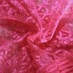 Фото Комплект из мягкого кружева розовый флуоресцентный 328-07-2