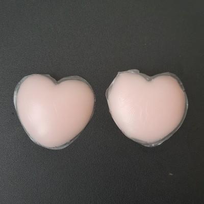 Силиконовые наклейки-невидимки на грудь в форме сердца 413-07