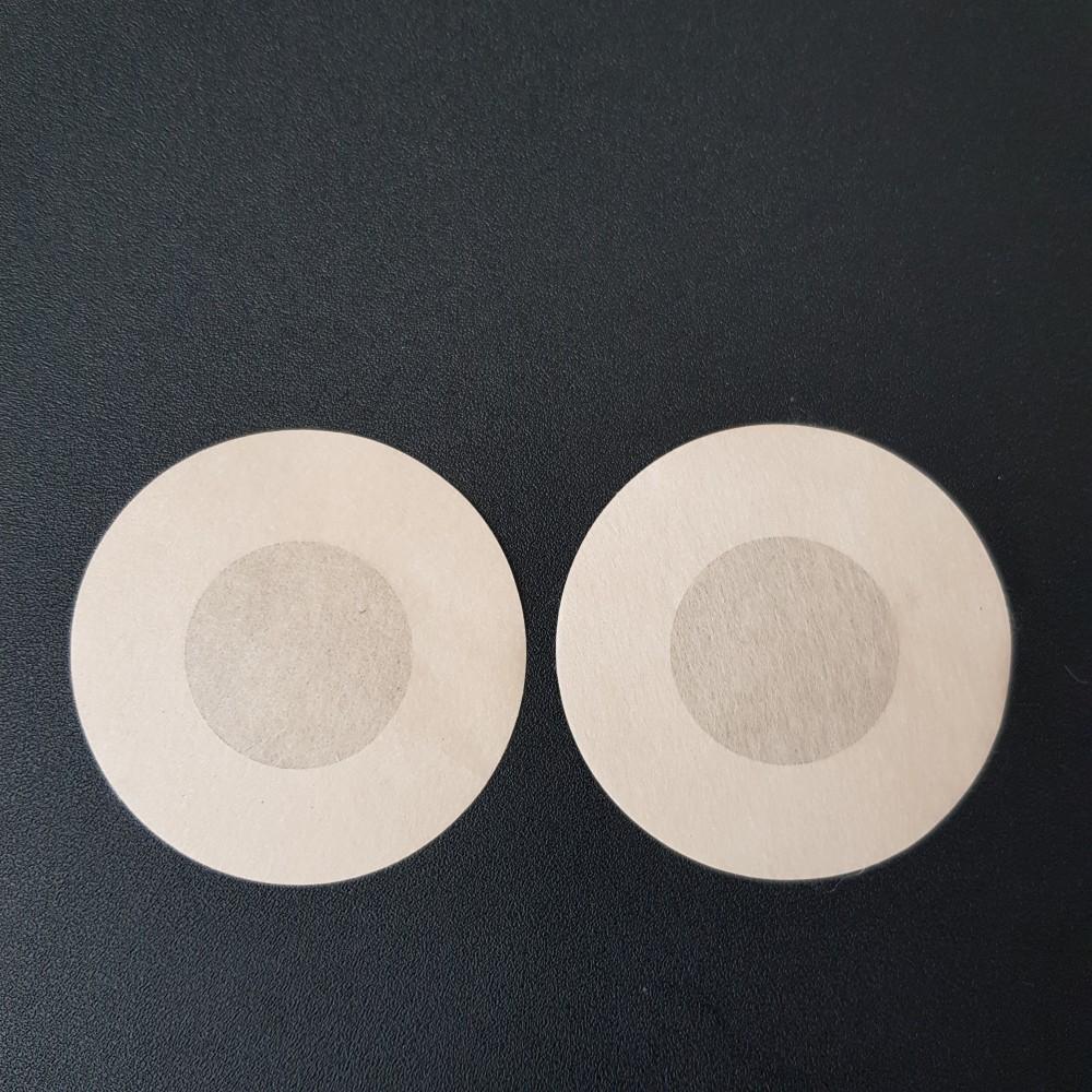 Фото Наклейки на грудь одноразовые круглые бежевые 419-08-1
