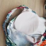 Фото Купальник бикини топ+шортики тропический принт  141-18-1