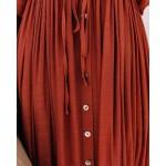 Фото Пляжное длинное платье терракотовое 405-51-1