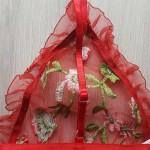 Фото Комплект белья с вышивкой красный 415-08-2