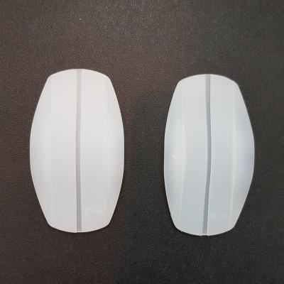 Силиконовые подкладки под бретели овальные прозрачные 419-03-4