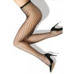 Фото Колготы чёрные крупная сетка 314-063