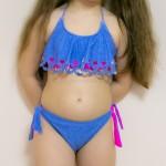 Фото Купальник детский раздельный голубой с воланом 700-25