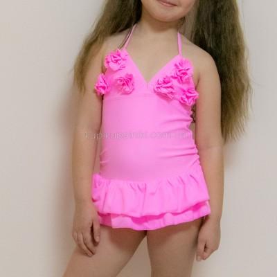 Купальник слитный детский розовый 161-02
