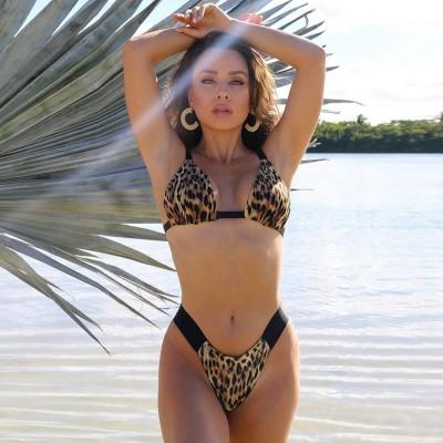 Купальник бикини леопардовый 130-221