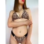 Фото Купальник бикини леопардовый 130-221