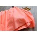 Фото Раздельный купальник бандо розовый топ воланом плавки высокая талия полосатые 130-87