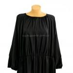 Фото Платье длинное чёрное на длинный рукав  190-02