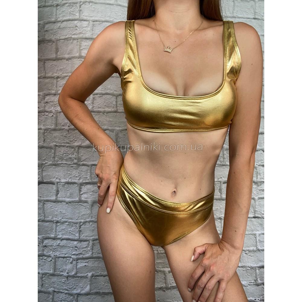 Фото Купальник раздельный золото 149-18-1