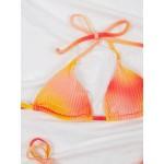 Фото Купальник бикини бархатный оранжевий на завязках 192-05